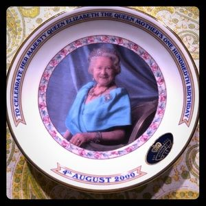 Queen Mother's 100th Birthday commemorative plate